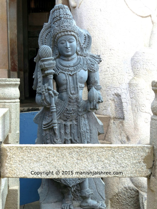 The idol of Brahmi or Sundari, the other idol is on the other side. Note the position of legs.