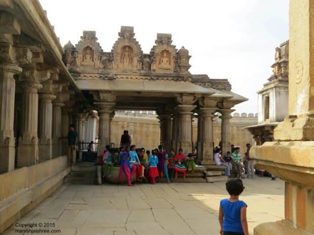 Gullekayi Ajji Mantapa, entrance to the inner courtyard of Bahubali monolith, Shravanabelagola