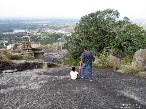 Papa!Lets explore more !shravanabelagola