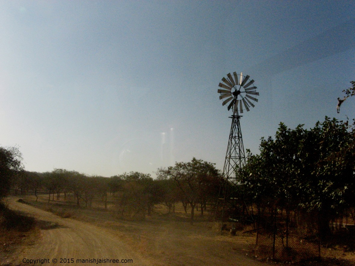 Wind-mills in Sasan Gir