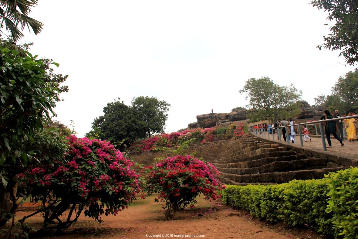 The ramp to Udayagiri Cave Complex, Odisha