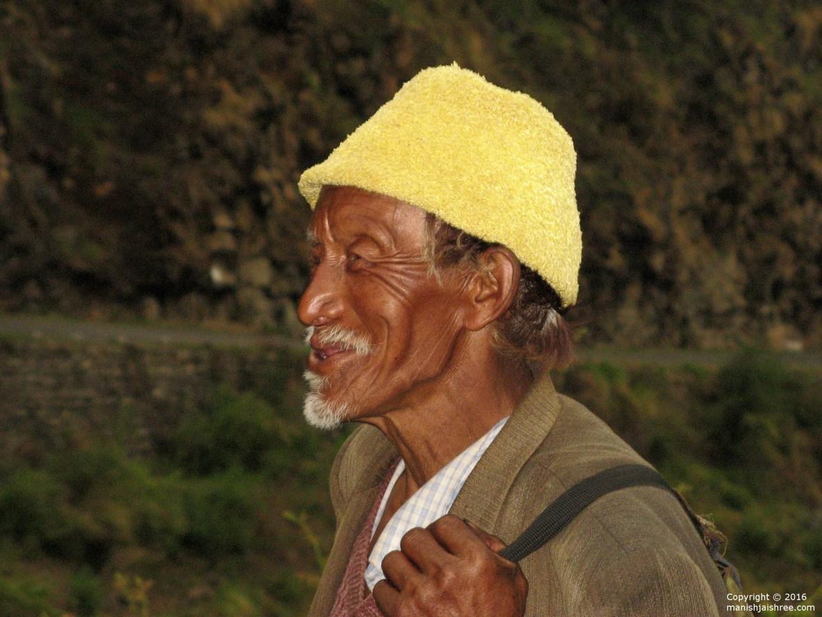 A Bhotia Elder returning from Malla-Johar