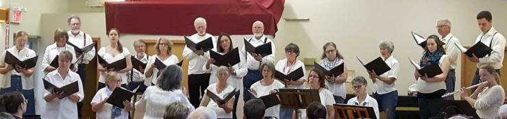 The Manitoulin Community Choir. Photo: Sharon Jackson