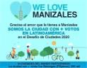"""Manizales es la ciudad más votada de Latinoamérica en el desafío mundial de ciudades """"We Love Cities"""""""