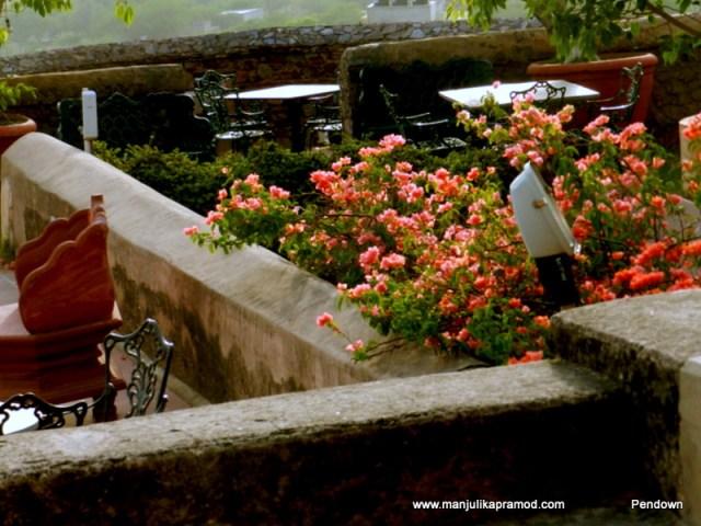 Terrace has beautiful gardens _Neemrana