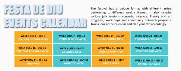 Festa Diu-Biggest Beach Festival of Asia-jam sessions, concerts, carnivals, Festa calendar, Events