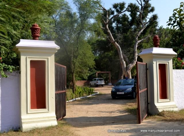 Gate to the Chambal Safari Lodge