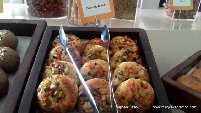 Food at the Square, Breads, Novotel Imagica, Mumbai