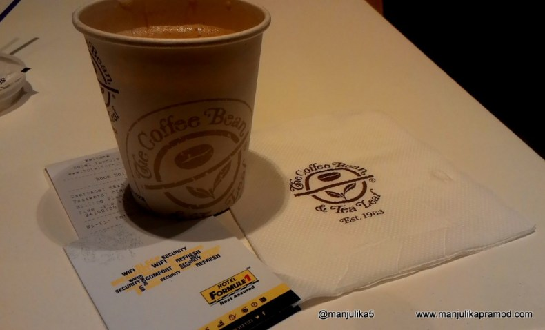 Discussions over coffee, Coffee Bean, Formule 1