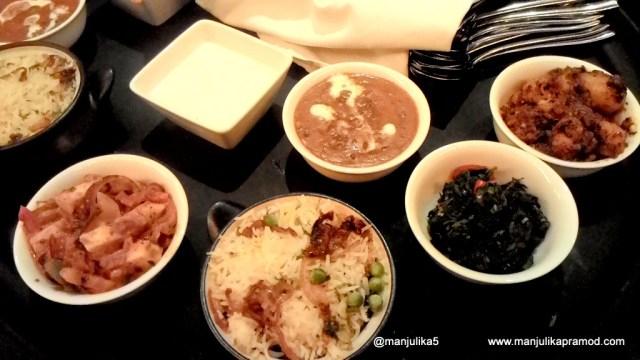 Biryani, Ghost, Chicken curry and Raiyta