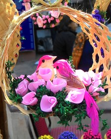 Love Birds, Dilli Haat, Art, Craft, Romance
