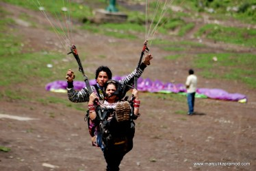 Paragliding, Adventure, Travel, India, Manali