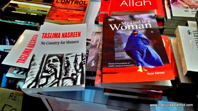 There were books all around and some of these books on Women were definitely a favorite among male readers.