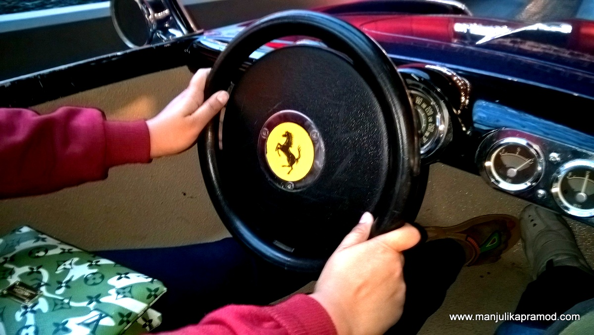 Driving a Ferrari car, Ferrari World, Abu Dhabi