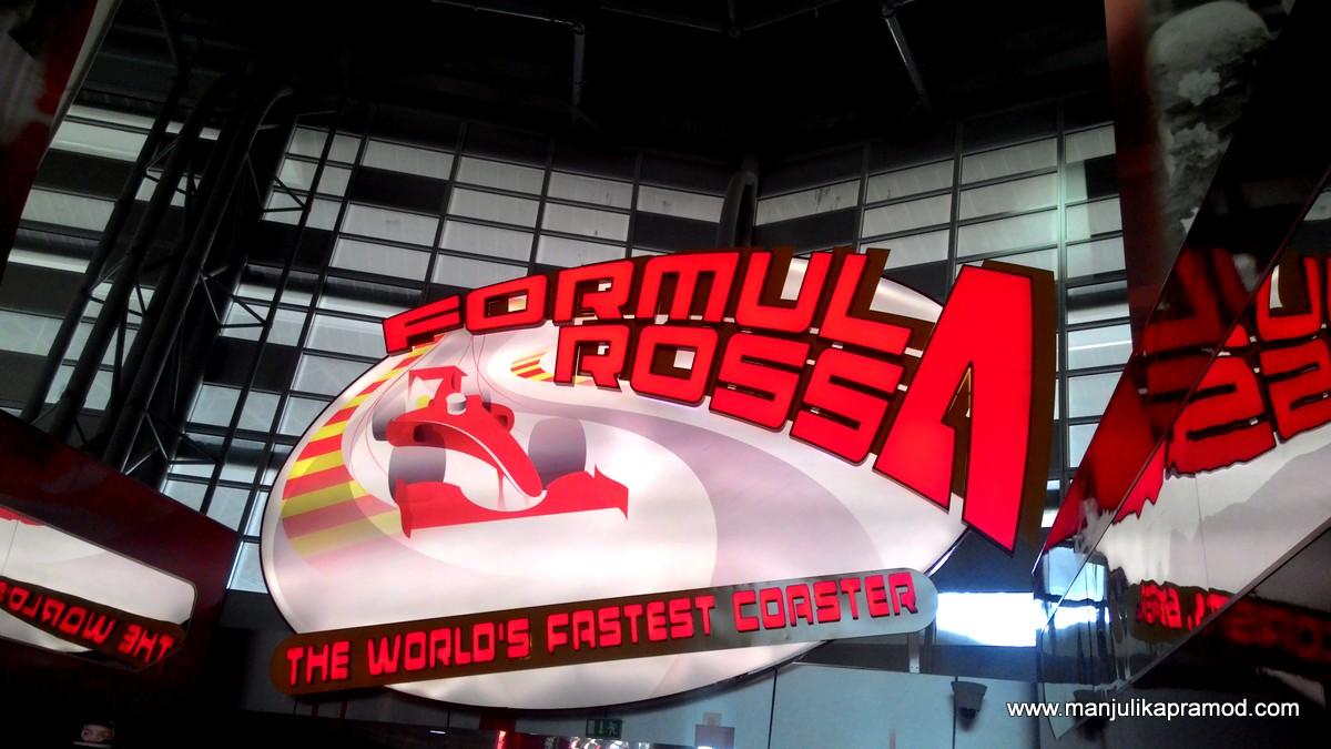 Formula Rossa, Abu Dhabi, Yas Island