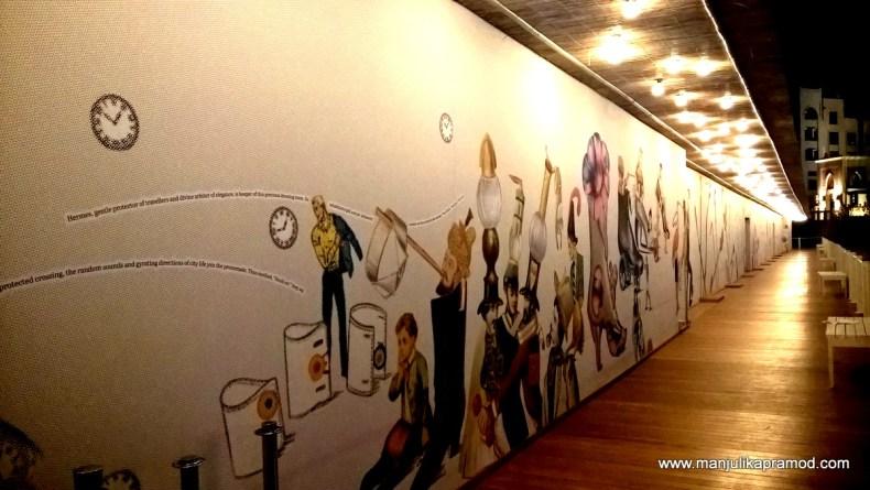 Hermes 'floating' exhibition near Dubai Fountain