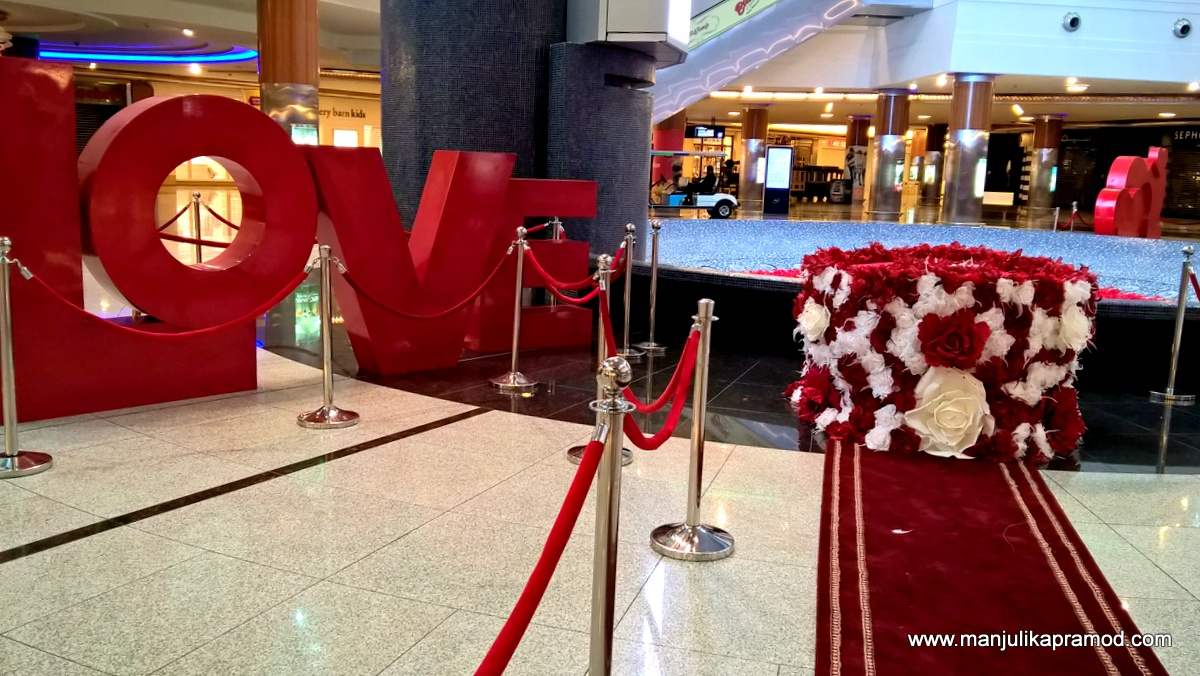 Valentines Day Decorations at Dalma Mall, Abu Dhabi