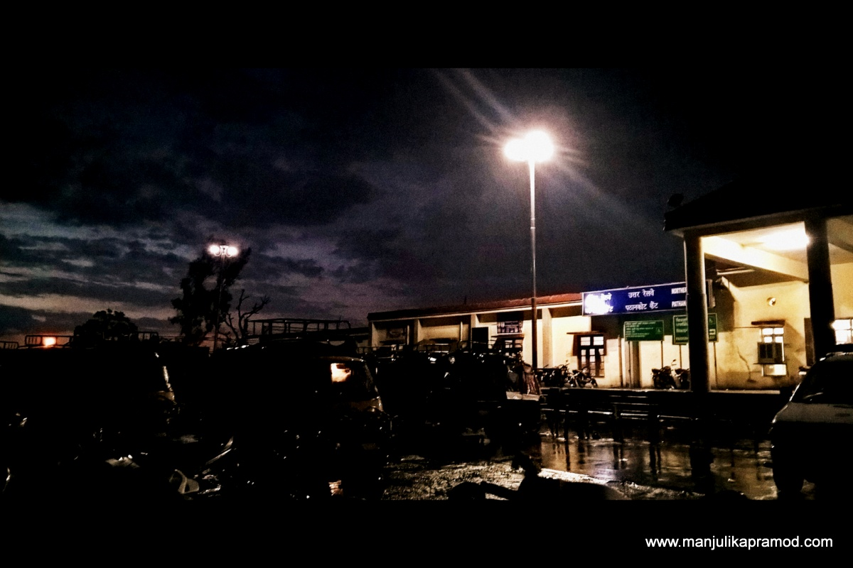 Pathankot Cantt Railway Station, Udhampur Express train, Travel blogger, Pathankot, Himachal