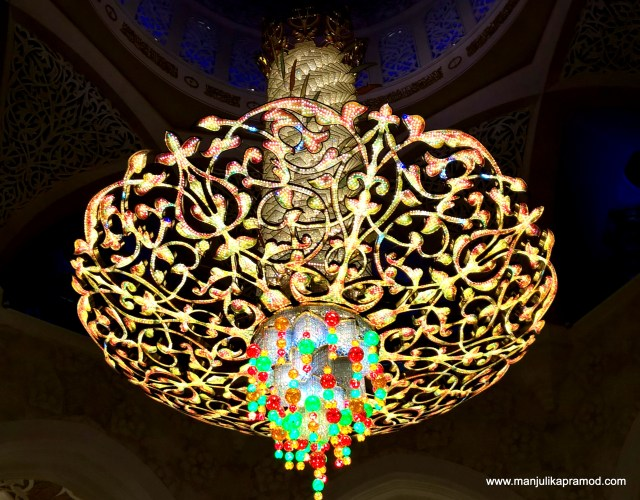 The Gorgeous Chandelier from Germany, The second largest Chandelier of the world!, Grand Mosque, Abu Dhabi