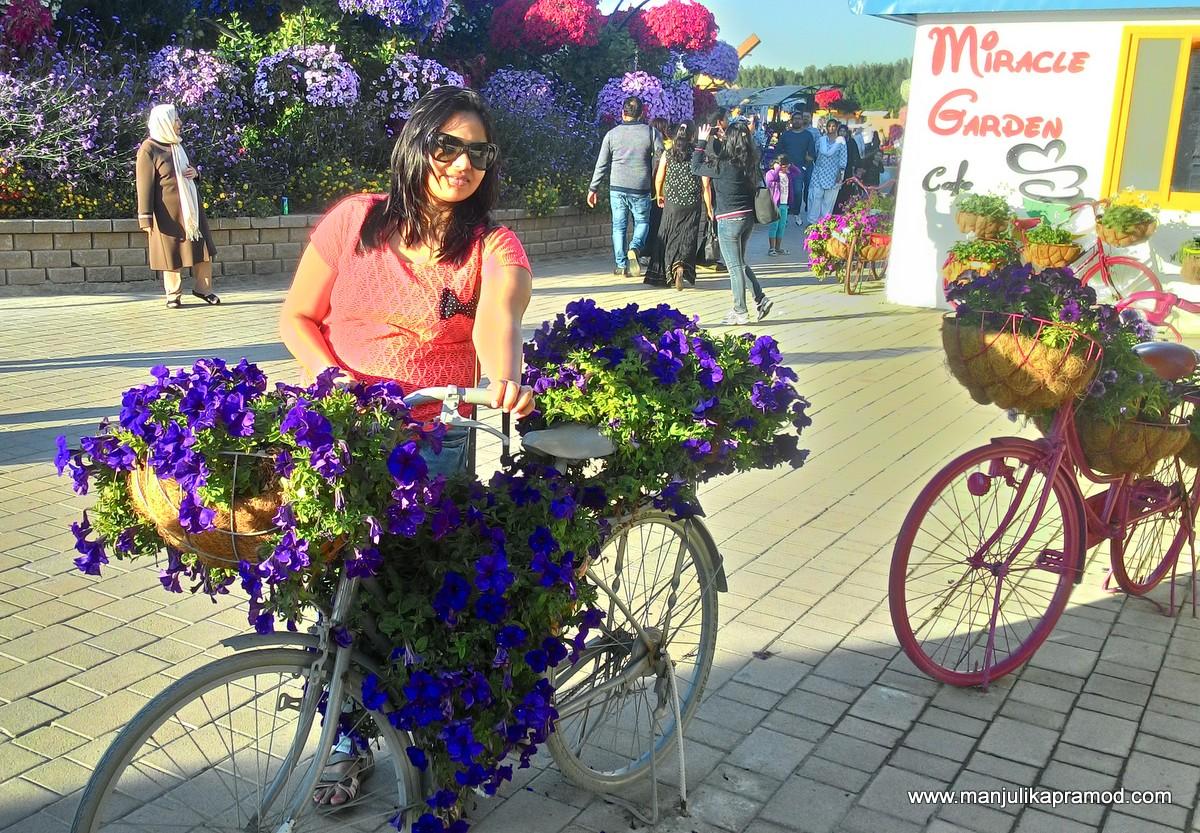 Dubai Miracle Garden, Photos, Posing, Photo-gallery