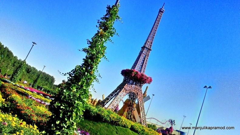 Eiffel Tower, Dubai, Miracle garden