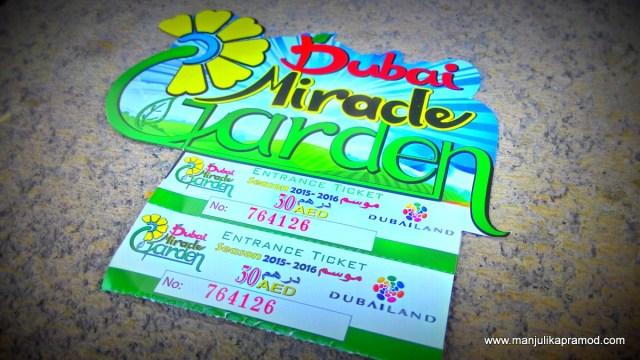 The Ticket to Dubai Miracle Garden, Attractions in Dubai