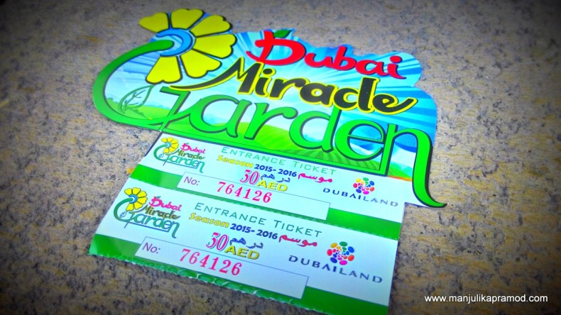 The Ticket to Dubai Miracle Garden, Attractions in Dubai