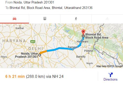 Noida, Bhimtal, National Highway, Road trip