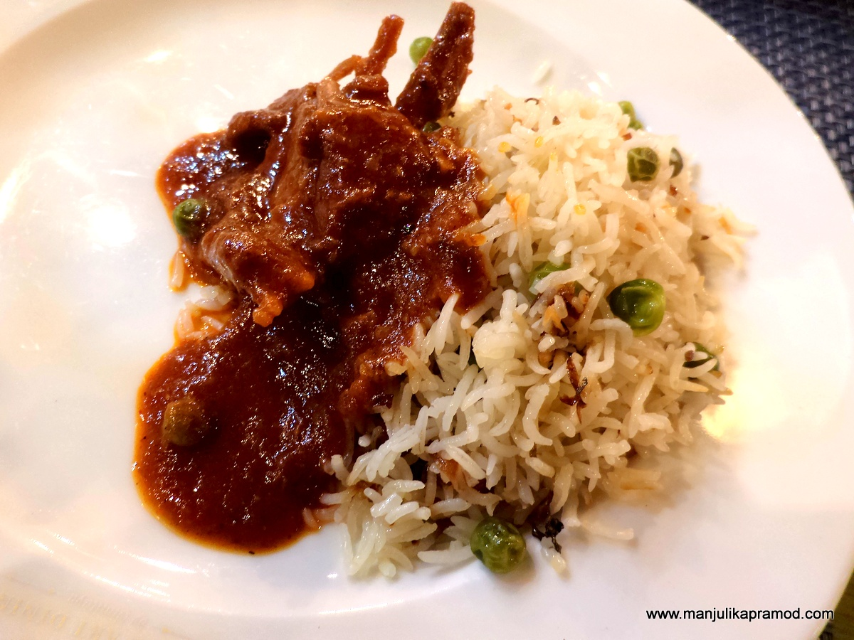 Mutton Curry and Peas pulao