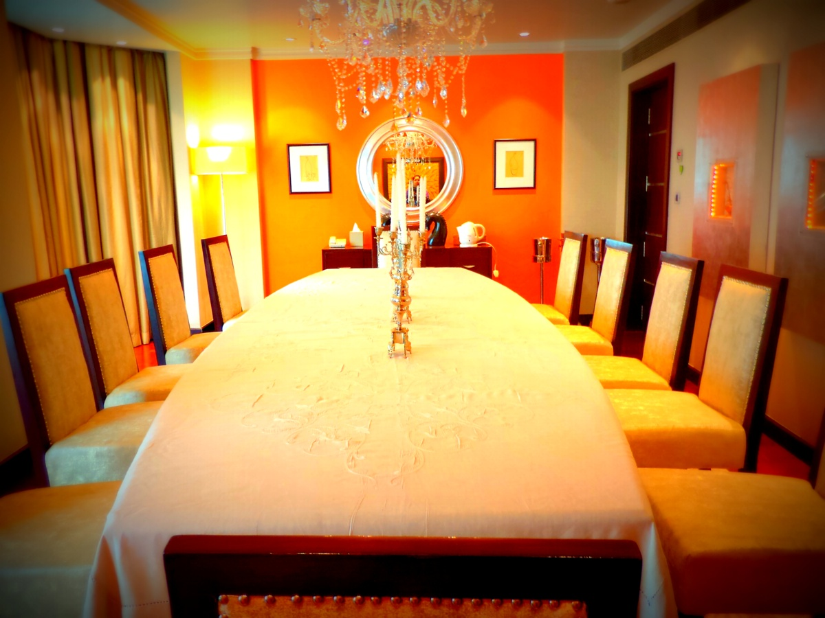 Presidential suite, 12 seater opulent dining room, ITC Maurya, responsible luxury