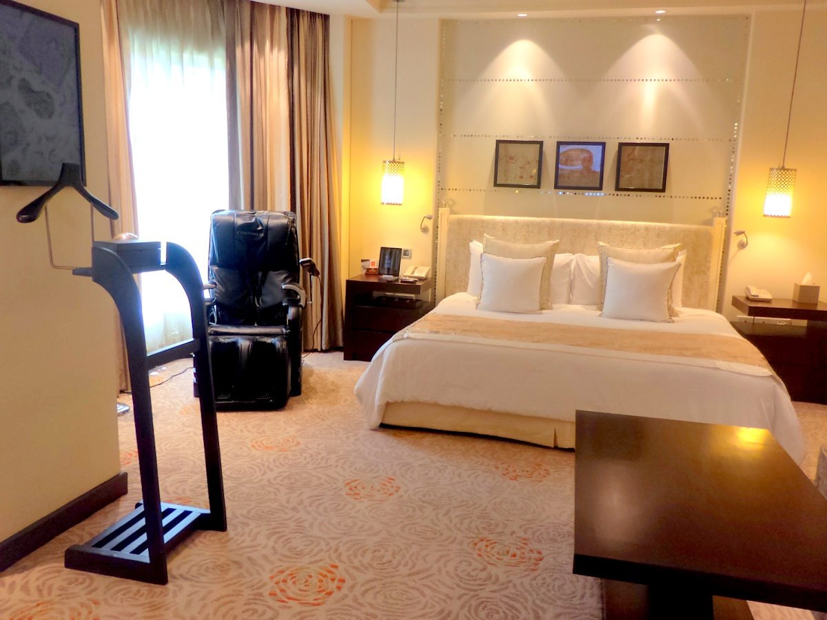 Bedroom of the Presidential suite, most expensive room