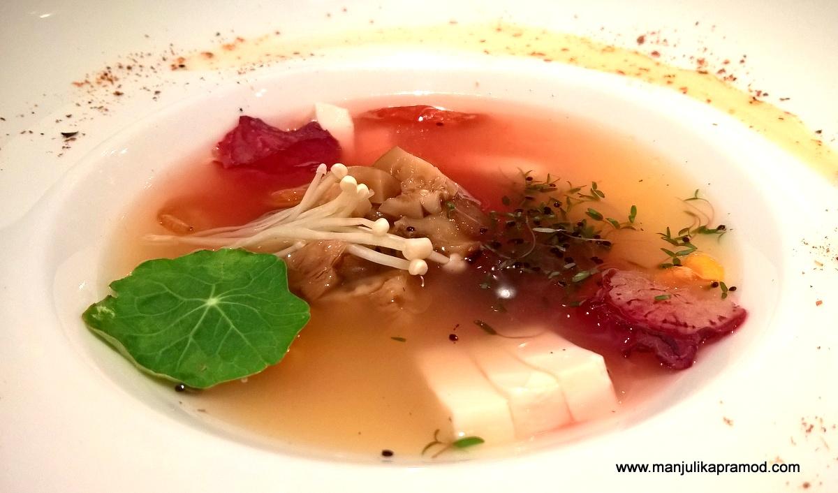 Emoki and Shitake Mushroom Soup, Thai Festival, Dinner, Friday, Delhi