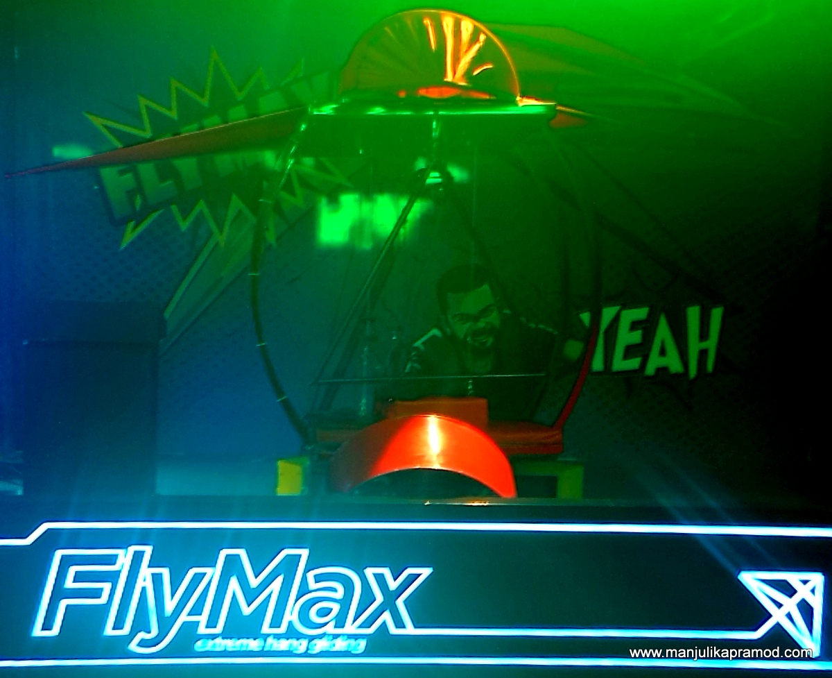 Fly max, Hang gliding, Games, SMAAASH, Mall of India, Noida