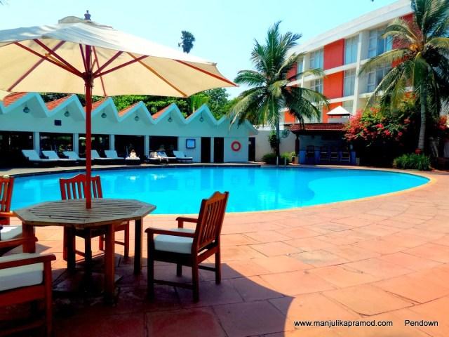 Swimming Pool in the hotel in Vizag