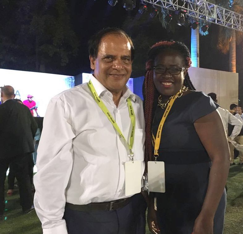 With Regina Kirmi of Kenya