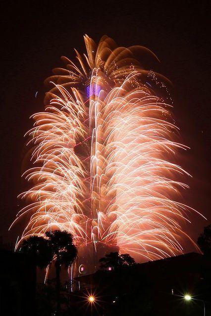 New Year, 2017, Fireworks, Taipei 101