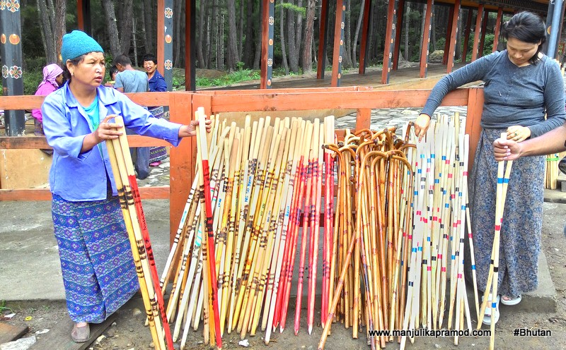 Buy a stick before the hike
