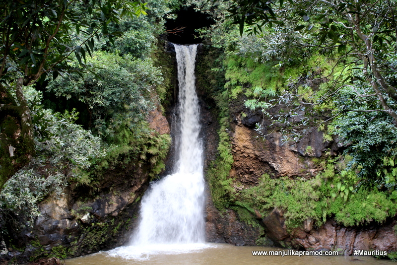 Waterfall inside La Vallee des Couleurs Nature