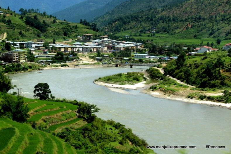 Mo chu river in Bhutan