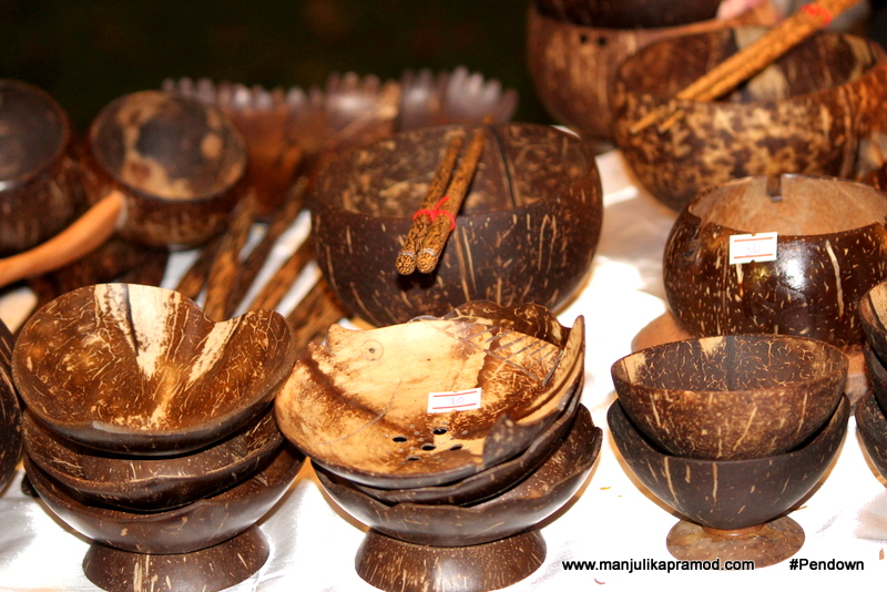 Bowls made of coconut shells