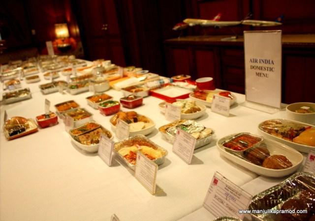 Sampling of Air India food