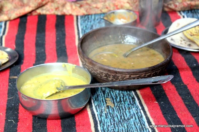 Dal and Sabzi -Himachali cuisine