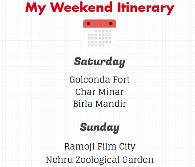 Weekend Trip, Bangalore to Hyderabad