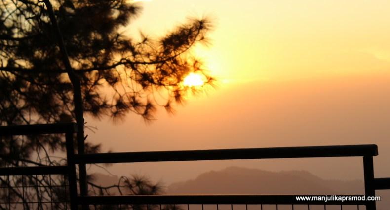 Sunset, Shoghi, Shimla, Travel