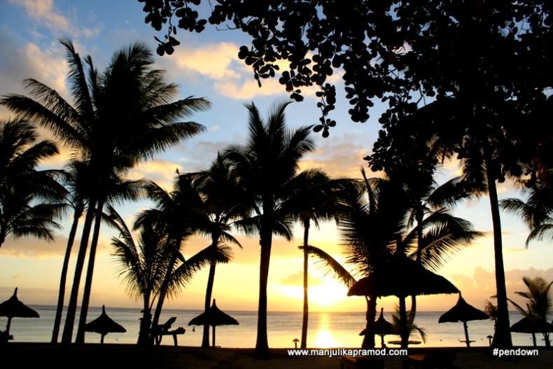 Sunset sky in Mauritius
