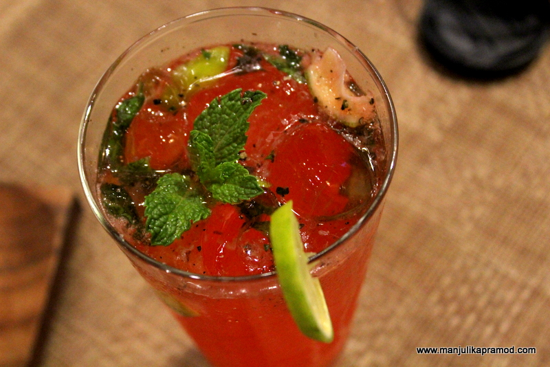 Watermelon drink with a Yell punch