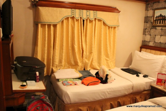 My room in the Golden Chariot Train