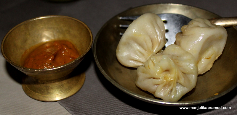 The momos at Utsav, the authentic Nepalese resturant in Kathmandu