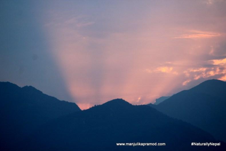 Sunset in Pokhara