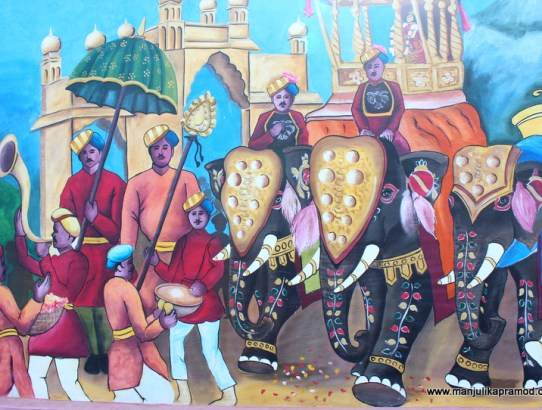 Travel & Art Series : The Mysore Wall Art - Mysuru Dussehra
